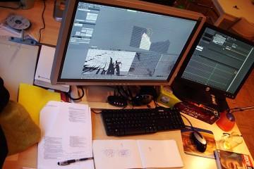 Bassam's desk